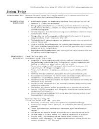 Store Manager Job Resume Resume For Study