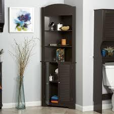 Oak Bathroom Storage Cabinet Bathroom Fascinating Oak Linen Bathroom Storage Tall Shelf