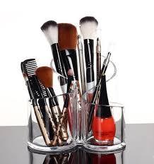 Amazon.com: PuTwo Acrylic Makeup Brush Holder Desk Organizer Cosmetics  Organizer Lipstick Organizer, Round, 370 Gram: Beauty