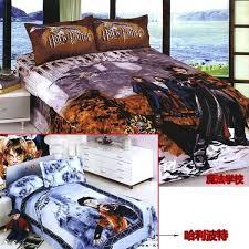 harry potter bedding set twin bed full queen blue cartoon linen sheet duvet cover quilt harry potter duvet cover set