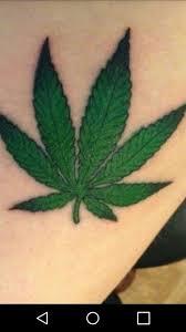 Green Weed Leaf Tattoo Art Weed Tattoo Marijuana Tattoo Tattoos
