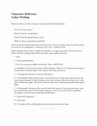 Resume References Format Example Lovely Character Reference How To