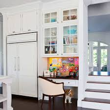 Cute home office ideas : Tiny Home Office Right In The Kitchen