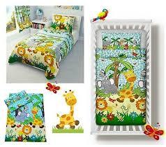 blue jungle baby bedding set duvet