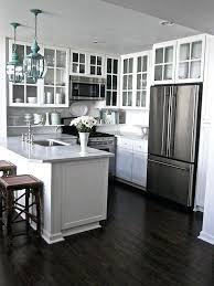 White kitchen dark wood floor Open Concept White Kitchen Dark Floors Small White Kitchens With Dark Floors And Cabinets White Shaker Kitchen Cabinets Hmgfinlandinfo White Kitchen Dark Floors Small White Kitchens With Dark Floors And