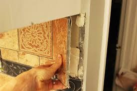 removing tile backsplash