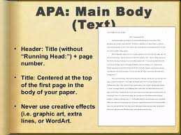 Sample of APA format