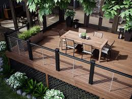 Wood Patio Designs Architecture Modern Patio Design With L Shaped Brown Wood Patio