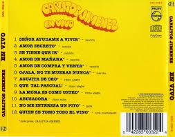 Caratula Trasera de La Mona Jimenez - En Vivo | Caratulas de musica,  Portadas, Caratula