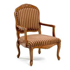 Small Upholstered Chairs For Bedroom Furniture Brown Wooden Chair With Arm Using Brown Striped
