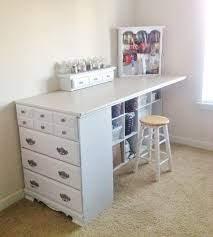 turn a old dresser into a craft station these are the best upcycled