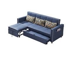l shape armrest fabric sofa bed