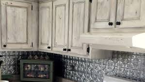 Marvelous White Wash Distressed Cabinets. Gray Painted Kitchen Cabinets