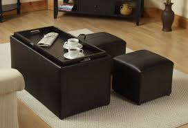 great coffee table with ottomans underneath