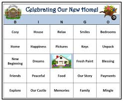 Housewarming Party Bingo Game (30 Cards) House and Home Party Theme Bingo  Words -Very Fun! Print and Play!
