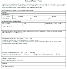 Simple Employee Incident Report Template Form Lupark Co