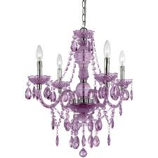 af lighting naples 4 light chrome mini chandelier with light purple plastic bead accents