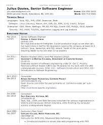 Senior Software Engineer Resume 9650 Institutodeestudiosurbanos Com
