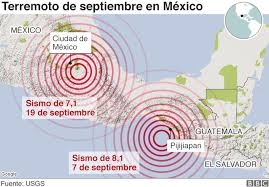 Resultado de imagen para sismo 19 de septiembre 2017 mapa