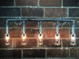 industrial vanity light bottle chandelier steampunk furniture edison lamp chandelier vanity light m69