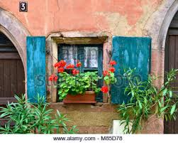 Decorative Window Boxes Decorative window with shutters and window boxes in Sitges Spain 40