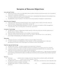 Admin Resume Objective Resume Objectives For Administrative Assistants Examples