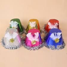 Paper Flower Hats Christmas Birthday Party Paper Floral Magic Props Baby Hat