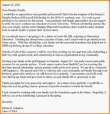 thank you note for scholarship 2010 scholarship letter