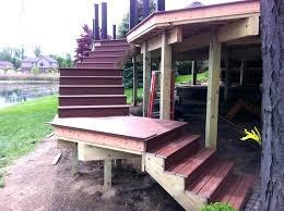 premade wooden steps