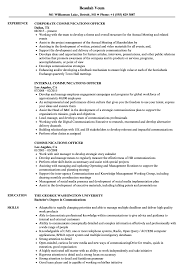 If you're looking for an example of a good cv for inspiration to help you write your perfect cv, you have come to the right place! Communications Officer Resume Samples Velvet Jobs