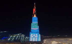 Sky Light Show New Retro Light Shows At The Burj Khalifa Dubaiweek Ae
