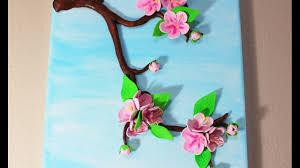 sakura cherry blossom 3d canvas art spring crafts home decor