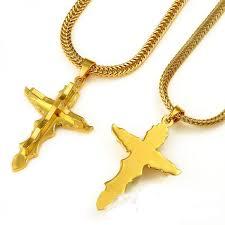 lace cross 18k gold plated hip hop fashion necklace pen
