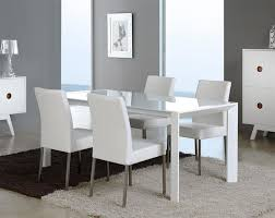 contemporary extending glass dining table in white or silver choice of size thumbnail