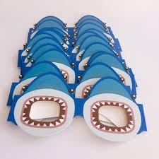 12 шт. забавные акулы украшения костюм <b>Бумажные очки</b>