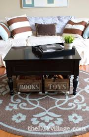 Coffee Tables With Basket Storage Storage Baskets For Under Coffee Table Coffee Addicts