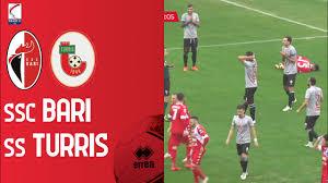 SSC BARI - TURRIS 1-1   18ma Giornata Serie C Gir. C 2020/21   Foto e  Statistiche della gara - YouTube