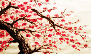 large cherry blossom painting box canvas ready to hang 34 x 20 inches by canvas interiors co uk kitchen home
