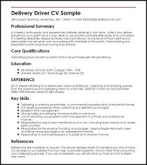 Delivery Driver Resume Truck Driver Resume Sample Pizza Delivery