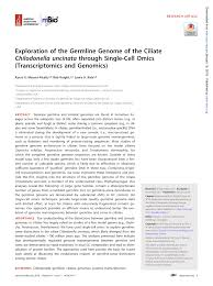 PDF) Structure of the germline genome of Tetrahymena thermophila and ...