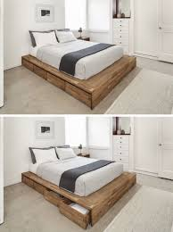 bed with drawers under.  Drawers 9 Ideas For UnderTheBed Storage  Eight Large Rolling Drawers Tucked  Right Into This Wood Platform Bed Make It A Convenient Place For Storing Things  To Bed With Drawers Under M
