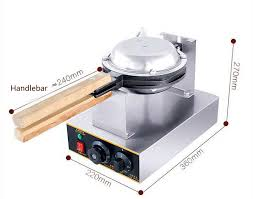 220v 1400w Electric Egg Cake Oven Iron Nonstick Waffle Bread Baker
