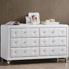 baxton studio stella 31 6 in x 51 75 in white faux leather upholstered dresser 28862 5420 hd the home depot