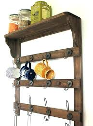 wall shelf with baskets and hooks wall shelves with hooks wooden shelf by the forest co