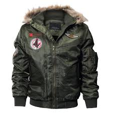 mens winter warm er jackets fleece lined thick thermal flight jackets and coats with fur hood plus size m 4xl big mens jackets jackets for man from