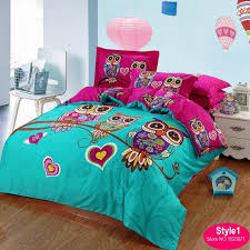 boys queen bedding set elegant cotton kids owl bedding set red rose 3d bedding sets