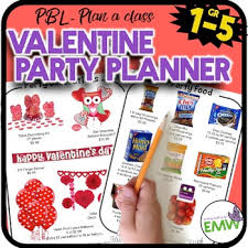 Party Planning Lists Valentines Day Math Activity Party Planning Project