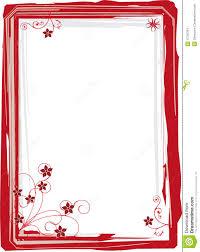 Red Photo Frames Red Frame Floral Pastel Stock Illustration Illustration Of Brush