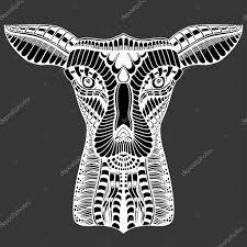 олень тату мехенди векторное изображение Frescomovie 123565198
