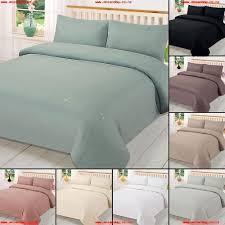 plain dyed duvet cover quilt bedding set with pillowcase single double king size 7j8ppjuz